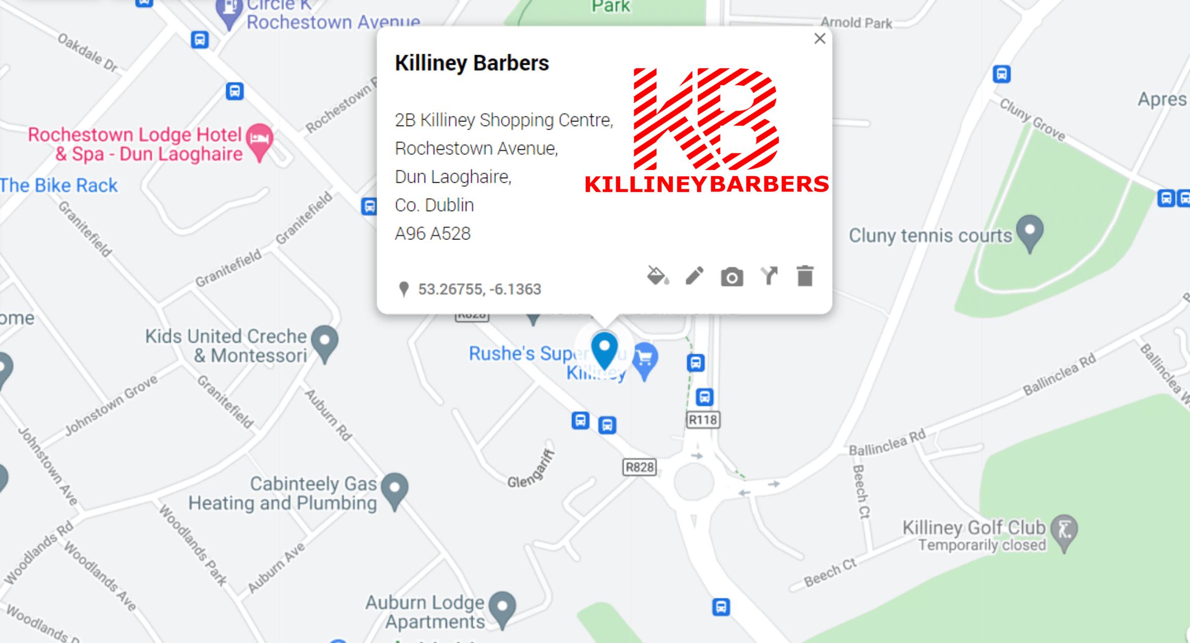Killiney Barbers Directions